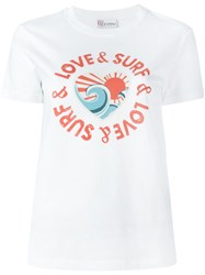 Red Valentino Love And Surf Print T Shirt White