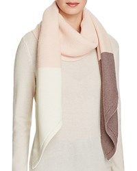 Ugg Textured Oversized Color Block Wrap Scarf Freshwater Pearl