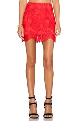 Lovers Friends Avery Mini Skirt Red