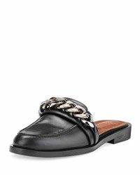 Givenchy Chain Leather Loafer Mule Black