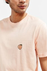 Urban Outfitters Embroidered Peach Tee Burnt Orange
