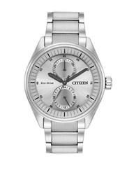 Citizen Paradex Eco Drive Analog Stainless Steel Bracelet Watch Silver