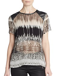 Generation Love Snake Print Chiffon Blouse Grey Multi