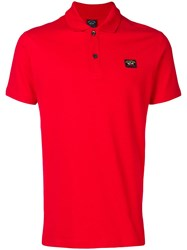 Paul And Shark Classic Polo Shirt Red