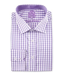 English Laundry Check Long Sleeve Dress Shirt Purple