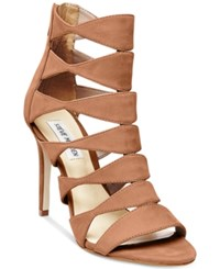Steve Madden Women's Swyndlee Cutout Dress Sandals Tan Nubuck
