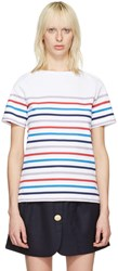 A.P.C. White Striped Yoyogi T Shirt
