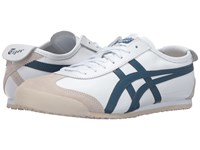 Onitsuka Tiger By Asics Mexico 66 White Poseidon Lace Up Casual Shoes Blue