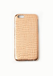 Missguided Rose Gold Metallic Croc Effect Iphone 6 Case
