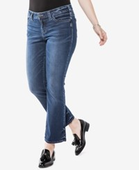 Silver Jeans Co. Trendy Plus Size Aiko Slim Cropped Boot Cut Indigo
