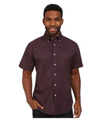 Matix Clothing Company Clutch Woven Top Navy Men's Short Sleeve Button Up