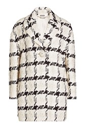 Alexander Mcqueen Check Print Coat In Cotton And Silk