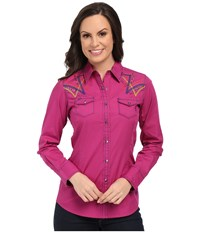 Ariat Ariana Snap Shirt Violina Women's Long Sleeve Button Up Pink