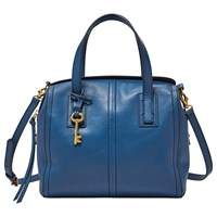 Fossil Emma Leather Satchel Marine