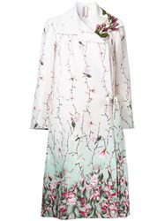 Antonio Marras Floral Printed Coat Pink Purple
