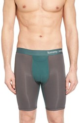 Tommy John Cool Cotton Boxer Briefs Iron Grey Agave