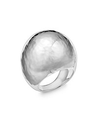 Ippolita Sterling Silver Large Hammered Dome Ring