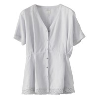 Poetry Broderie Anglaise Shirt Frost