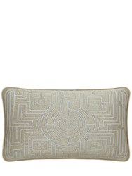Armani Casa Small Octavia Labyrinth Pillow Silver