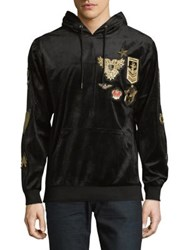 Reason Richmond Graphic Velour Hoodie Black
