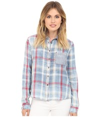Mavi Jeans Checked Shirt Indigo Check Women's Clothing Blue