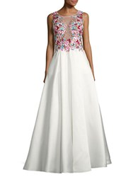 Basix Ii Embellished Full Skirted Ball Gown Ivory