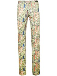 Pt01 Patterned Slim Fit Trousers Men Cotton Elastodiene 46