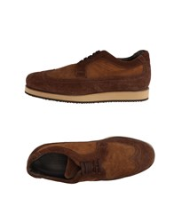 Gold Brothers Lace Up Shoes Brown