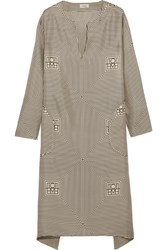 Toteme Soma Printed Silk Twill Dress Cream