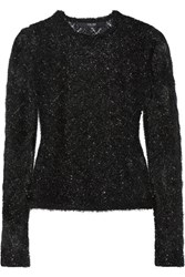 Sibling Metallic Knitted Sweater Black
