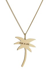 Paul And Joe Logo Palm Tree Necklace Gold