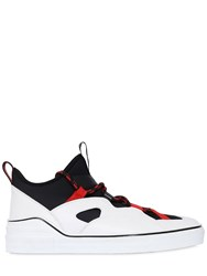 Givenchy George V Neoprene And Leather Sneakers Black White