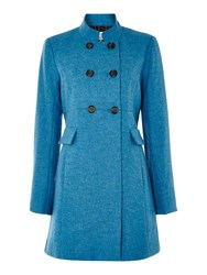 Dickins And Jones Wool Chester Coat Turquoise