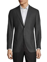 Saks Fifth Avenue Textured Sport Jacket Charcoal