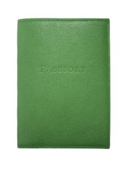 Graphic Image Leather Passport Cover Green Purple Pink Blue