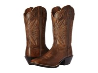 Ariat Round Up Outfitter Vintage Bomber Cowboy Boots Brown