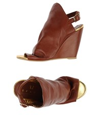 Space Style Concept Footwear Sandals Women Brown