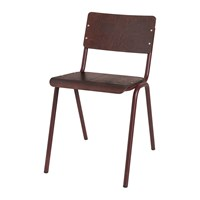 Broste Copenhagen Ole Steel Wood Chair Wild Ginger