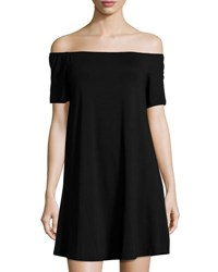 Glamorous Off The Shoulder Jersey Dress Black