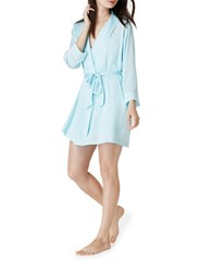 Kate Spade Long Sleeve Embroidered Robe Bridal Blue