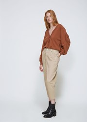Nehera 'S Paulo Denim Pants In Sand Size 34 Cotton Polyurethane