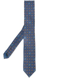 Dolce And Gabbana Tile Print Tie Blue