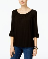 Inc International Concepts Bell Sleeve Peasant Top Only At Macy's Deep Black