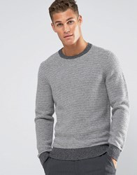 Tommy Hilfiger Jumper With Fine Stripe In Grey 08878A1729