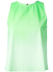 Giambattista Valli 7 For All Mankind X Giambattista Valli Back Zip Tank Top Green