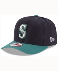 New Era Seattle Mariners Vintage Washed 9Fifty Snapback Cap Navy Teal