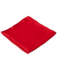 Club Room Pocket Square Silk Solid Red