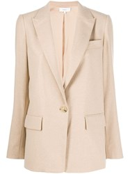 Vince Single Breasted Blazer Neutrals