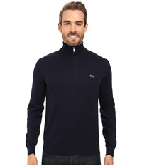 Lacoste Segment 1 1 4 Zip Jersey Sweater Navy Blue Men's Sweater