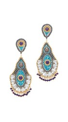 Miguel Ases Rebecca Earrings Blue Multi